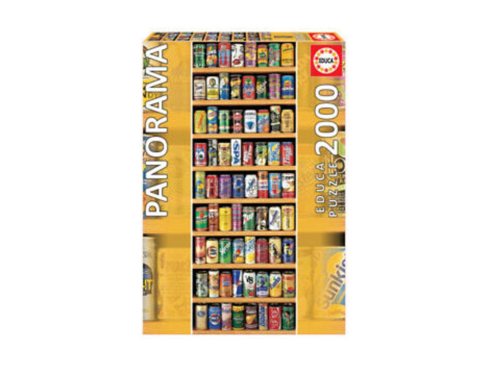 Educa Puzzle 2000: Canettes de soda (Panorama)