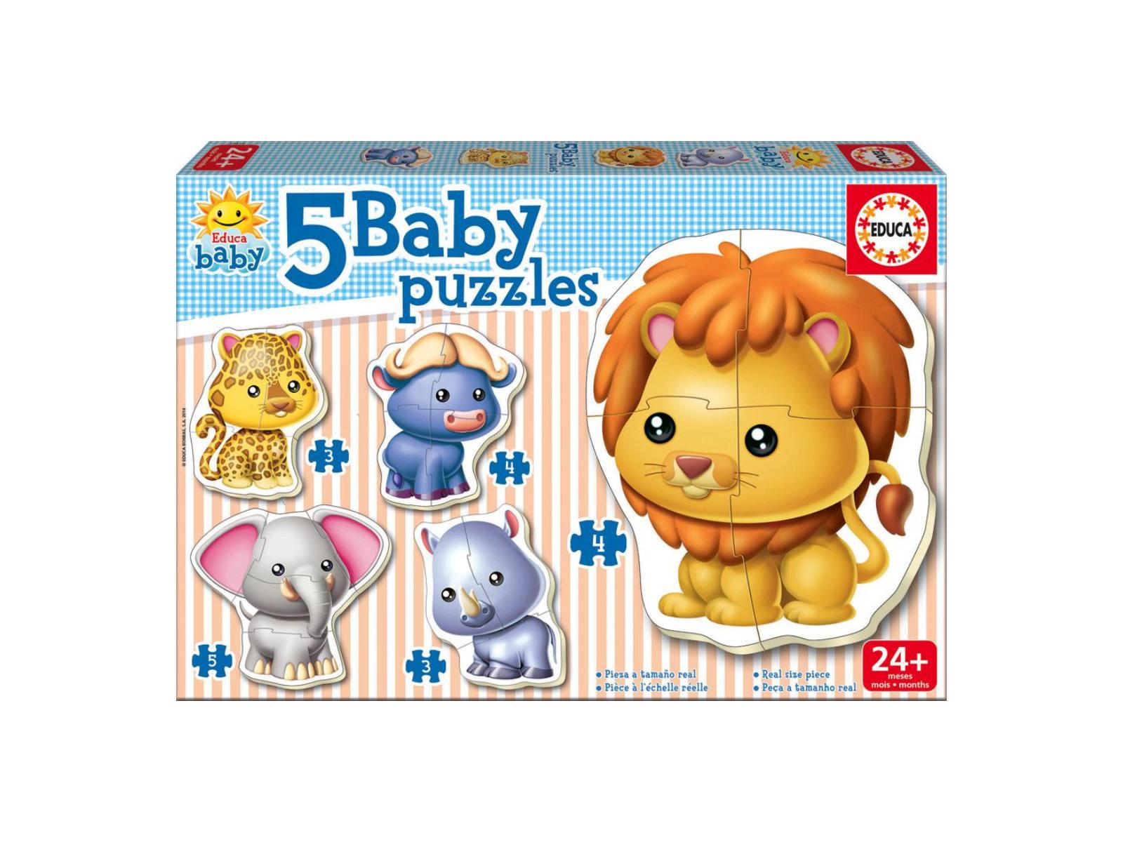 Educa Puzzle bébé 5: Animaux sauvages