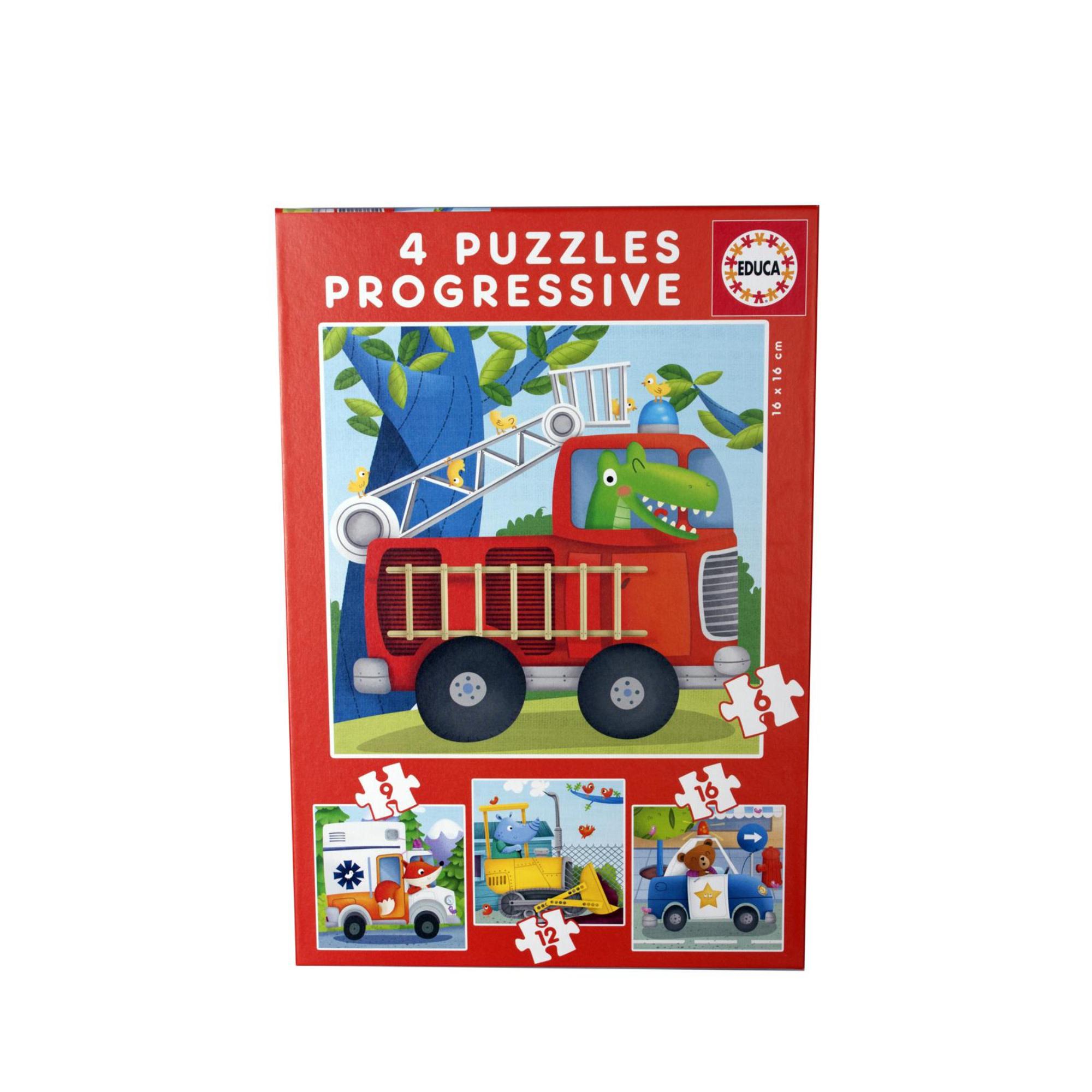 Educa Puzzle progressifs 4: Véhicules