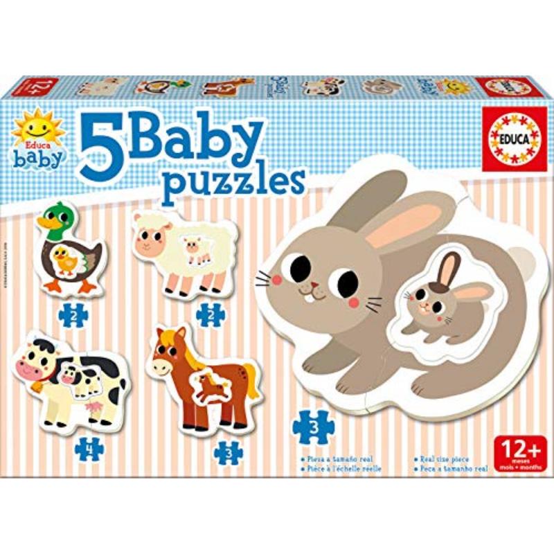 Educa Puzzle bébé 5: La ferme