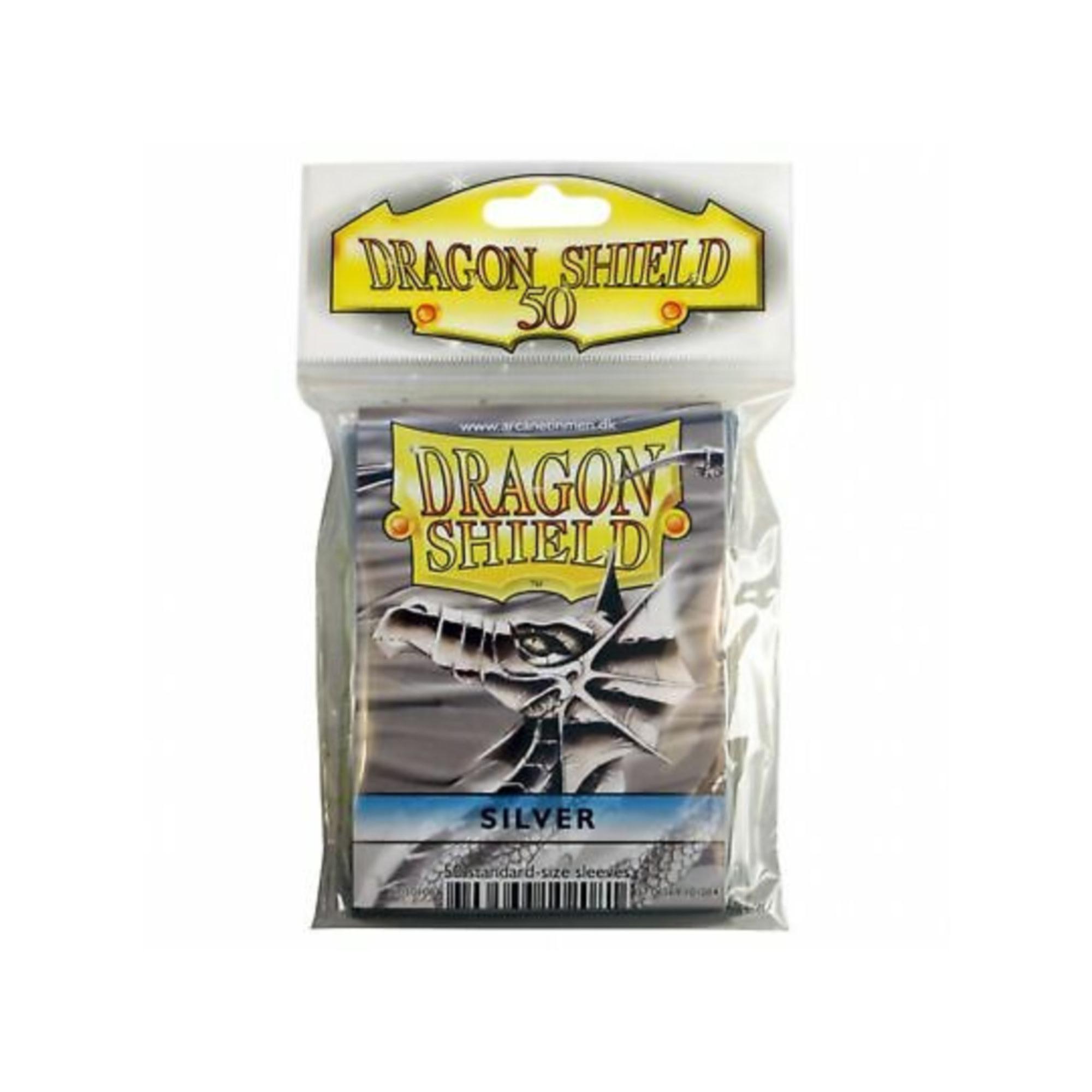 Arcane Tinmen Dragon Shields: (50) Classic Silver