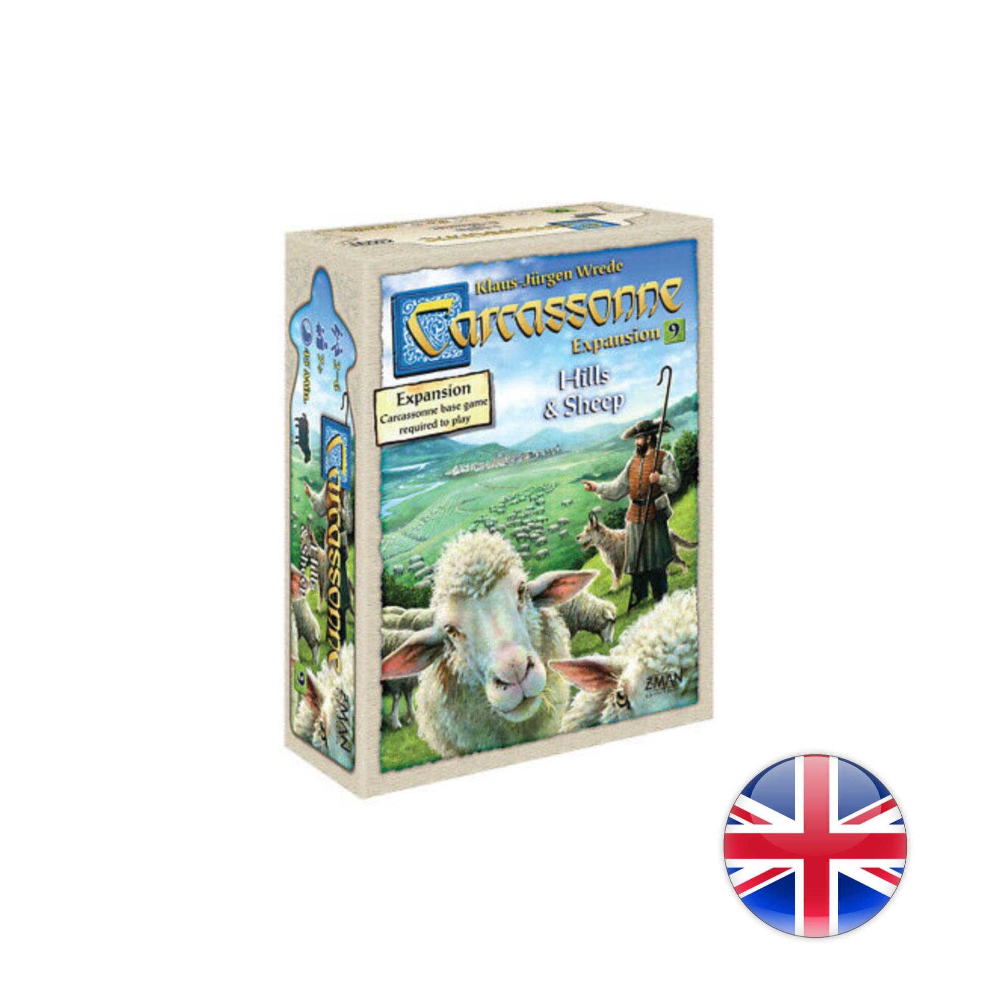 Z-Man Carcassonne Exp : 9 - Hills & Sheep