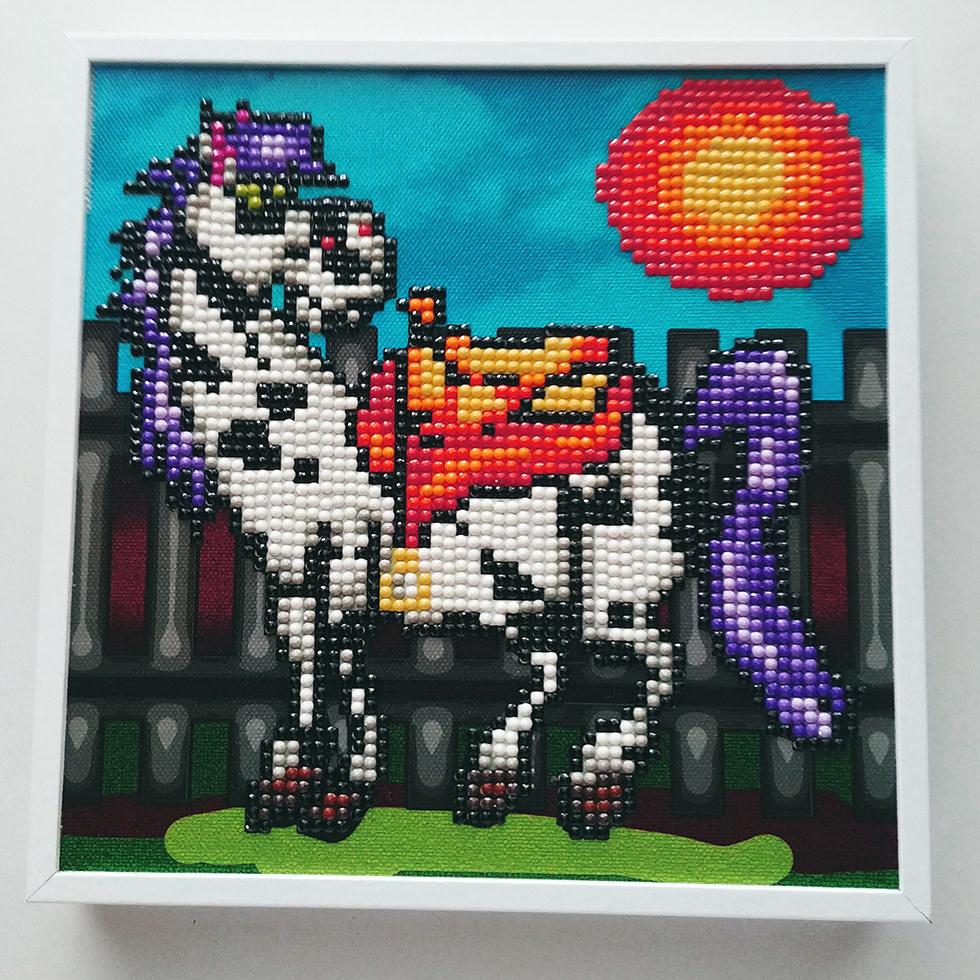 JaCaRou Alfred (Cheval / Horse) 19 X 19 Diamond Painting CADRE /  FRAME