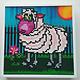 JaCaRou Bernie (Mouton / Sheep) Diamond Painting 19 X 19 CADRE /  FRAME