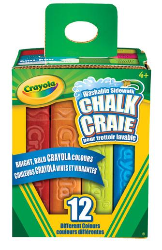 Crayola Boîte de 12 craies pour trottoir