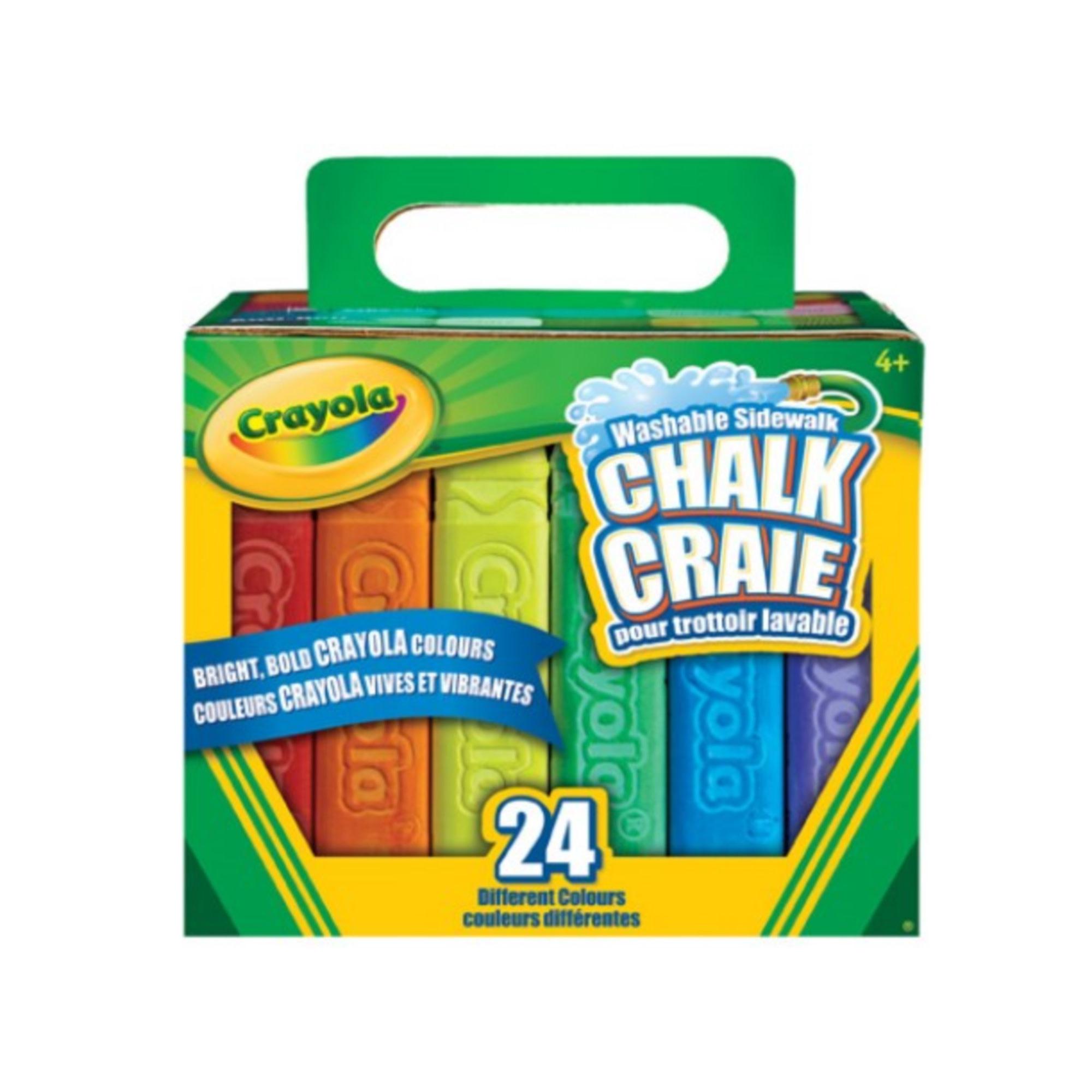 Crayola Boîte de 24 craies pour trottoir