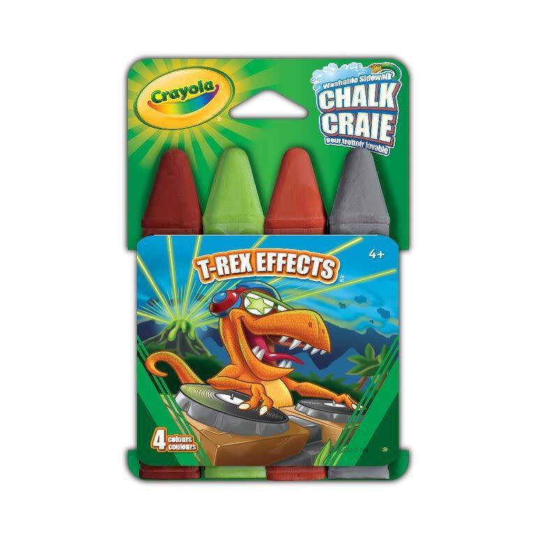 Crayola Craies pour trottoir (4) T-Rex Effects