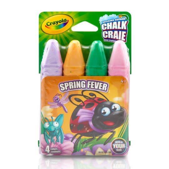 Crayola Craies pour trottoir (4) Spring Fever