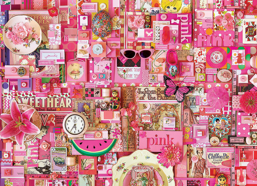 Cobble Hill Puzzle 1000: Pink