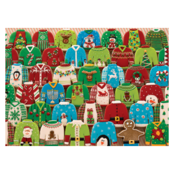 Cobble Hill Puzzle 1000: Ugly Xmas Sweaters