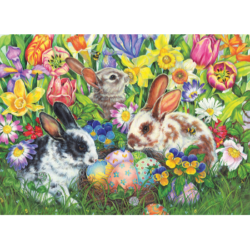 Cobble Hill Puzzle 500: Easter Bunnies