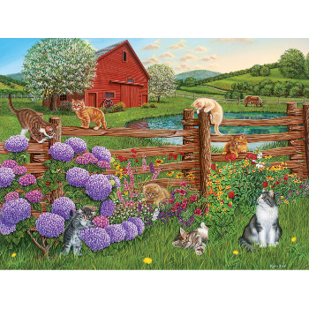 Cobble Hill Puzzle 275: Farm Cats