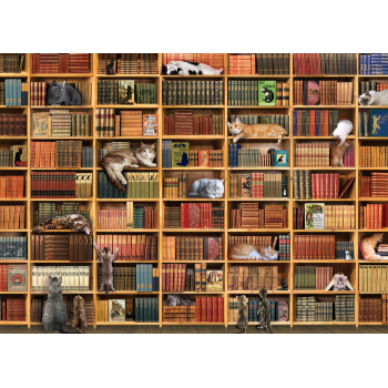 Cobble Hill Puzzle 1000: The Cat Library