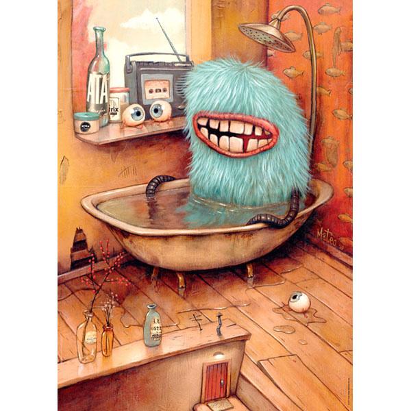 Heye Puzzle 1000: Bathtub, Zozoville