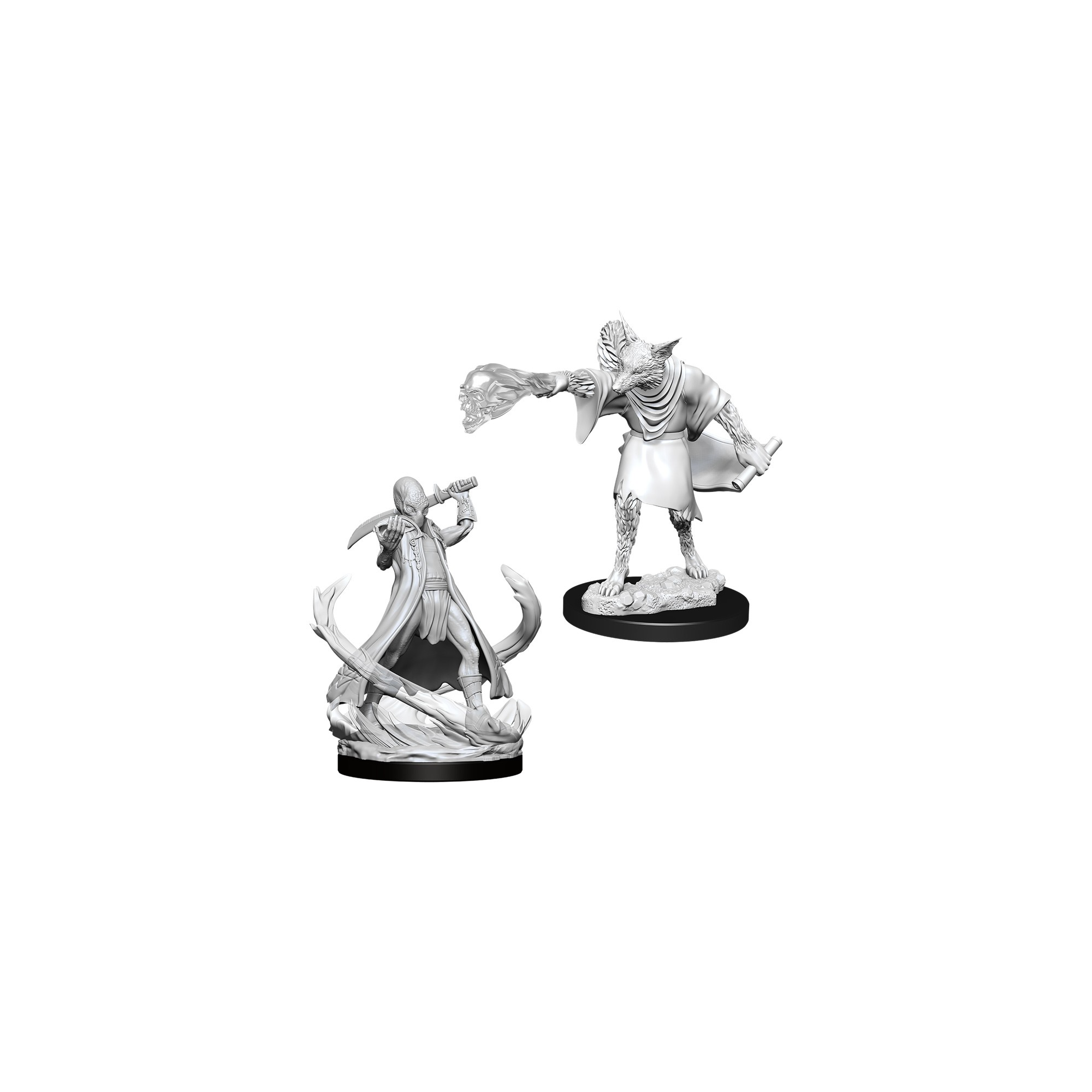 Wizkids Games D&D Dungeons & Dragons: DnD Unpainted Minis WV11 Arcanaloth and Ultraloth