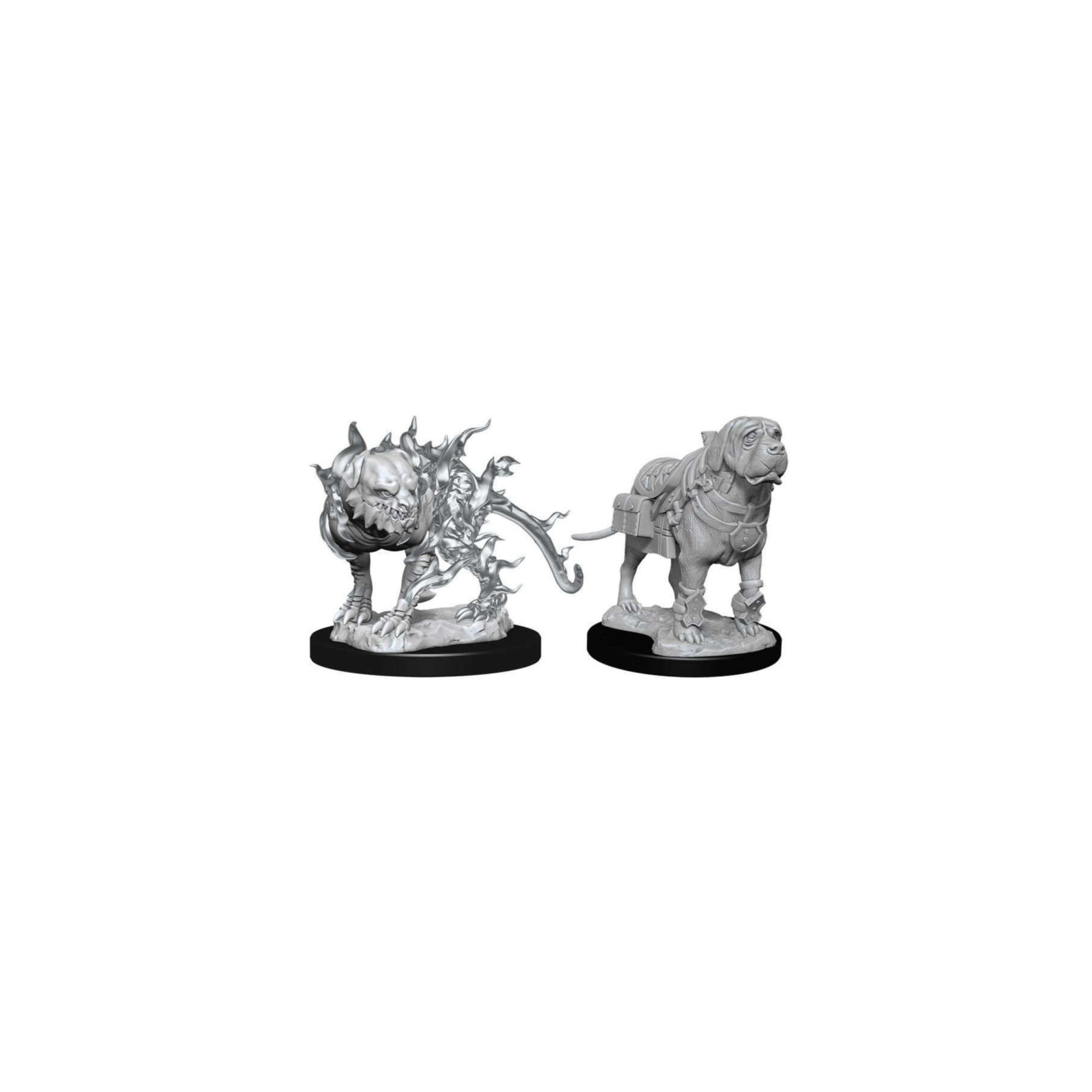 Wizkids Games D&D Dungeons & Dragons: DnD Unpainted Minis WV11 Shadow and Shadow Mastif