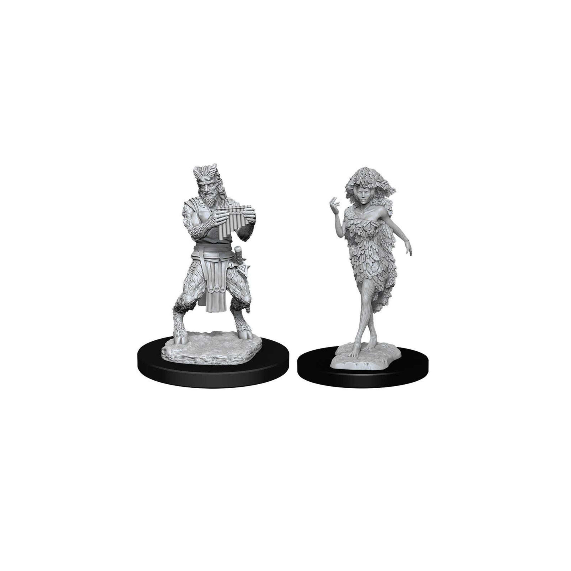 Wizkids Games D&D Dungeons & Dragons: DnD Unpainted Minis WV11 Satyr and Dryad