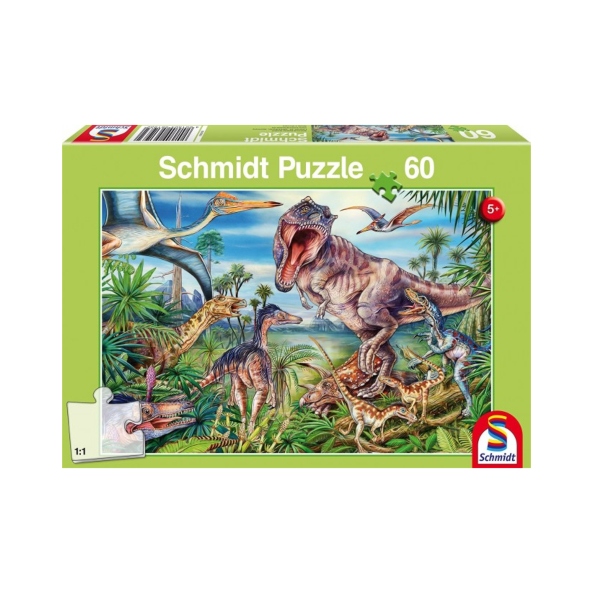 Schmidt Puzzle 60: Amongst the Dinosaurs