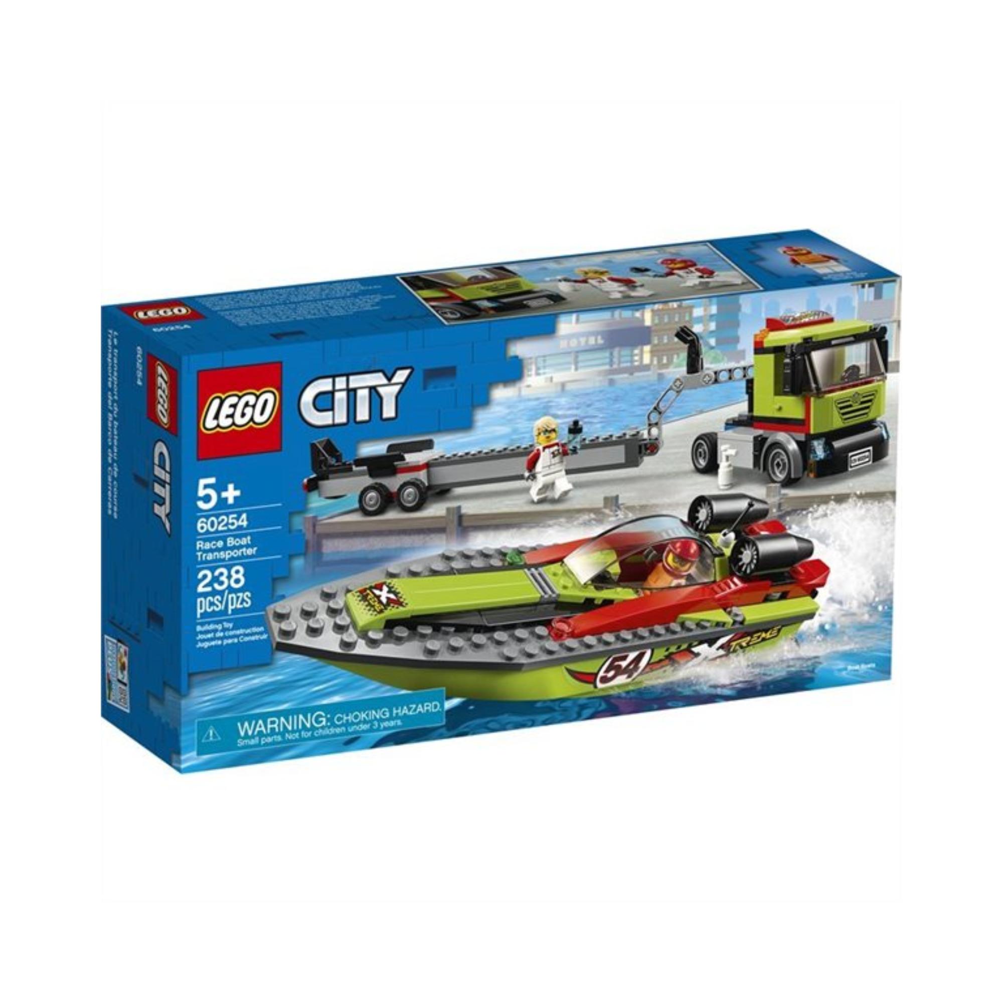 LEGO LEGO City - Le transport du bateau de course