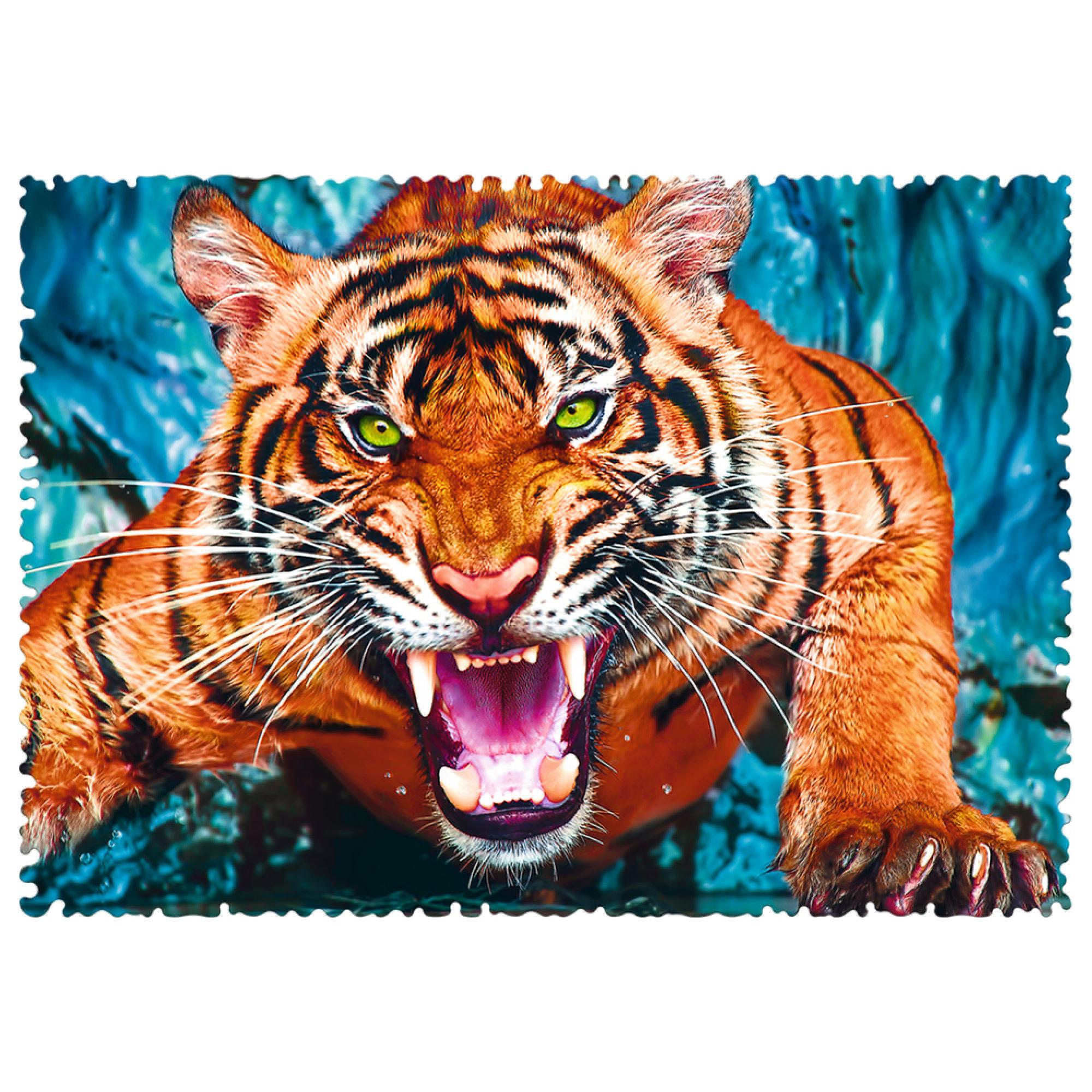 Clementoni Puzzle 600: Faire face au tigre