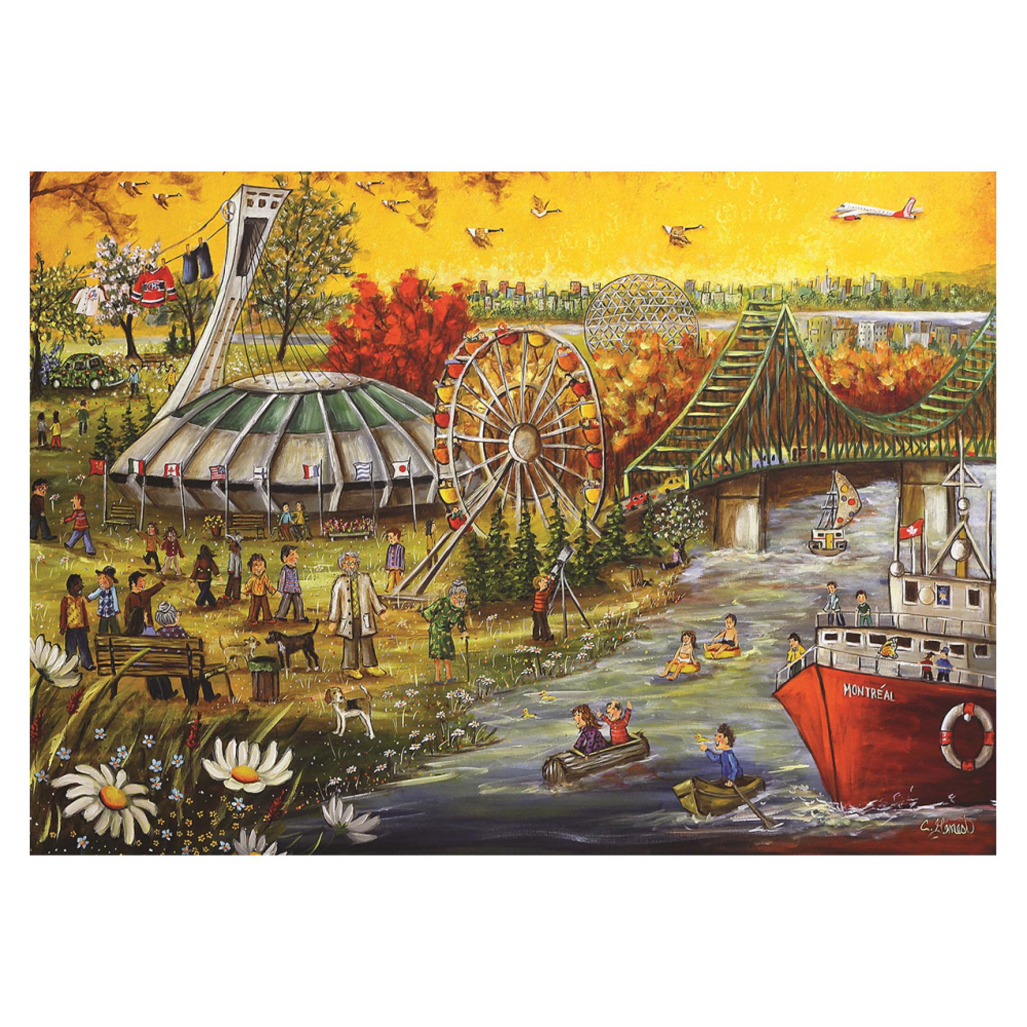 Trefl Puzzle 1000: Genest - Bonne fête Montréal