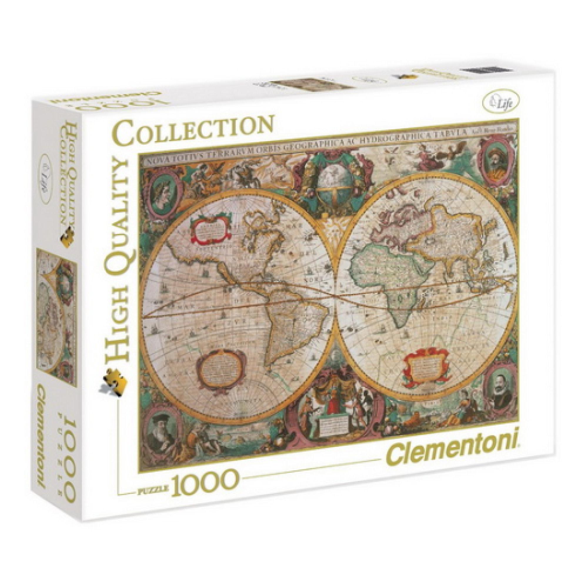 Clementoni Puzzle 1000: Carte Ancienne