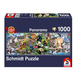 Schmidt Puzzle 1000: Panorama, Colorful Animal Kingdom