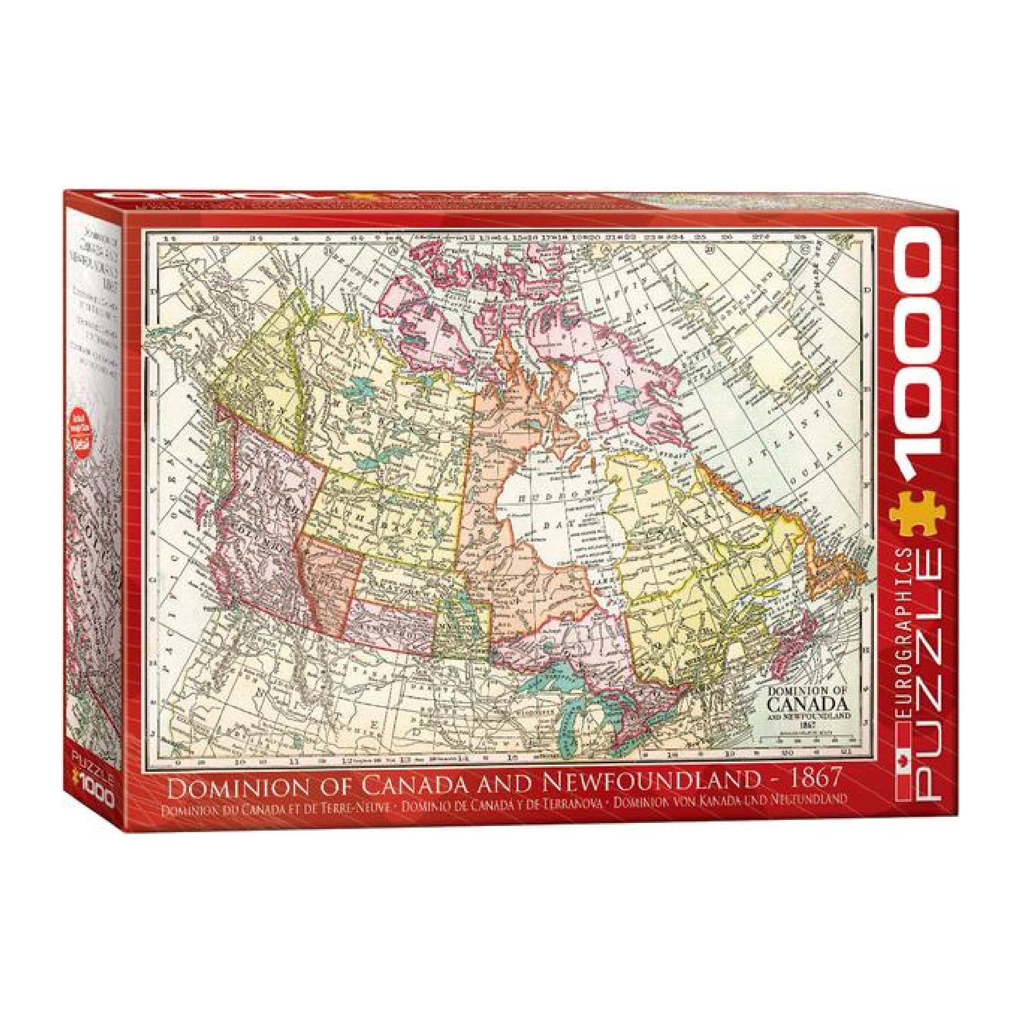 Eurographics Puzzle 1000: Dominion of Canada and Newfoundland