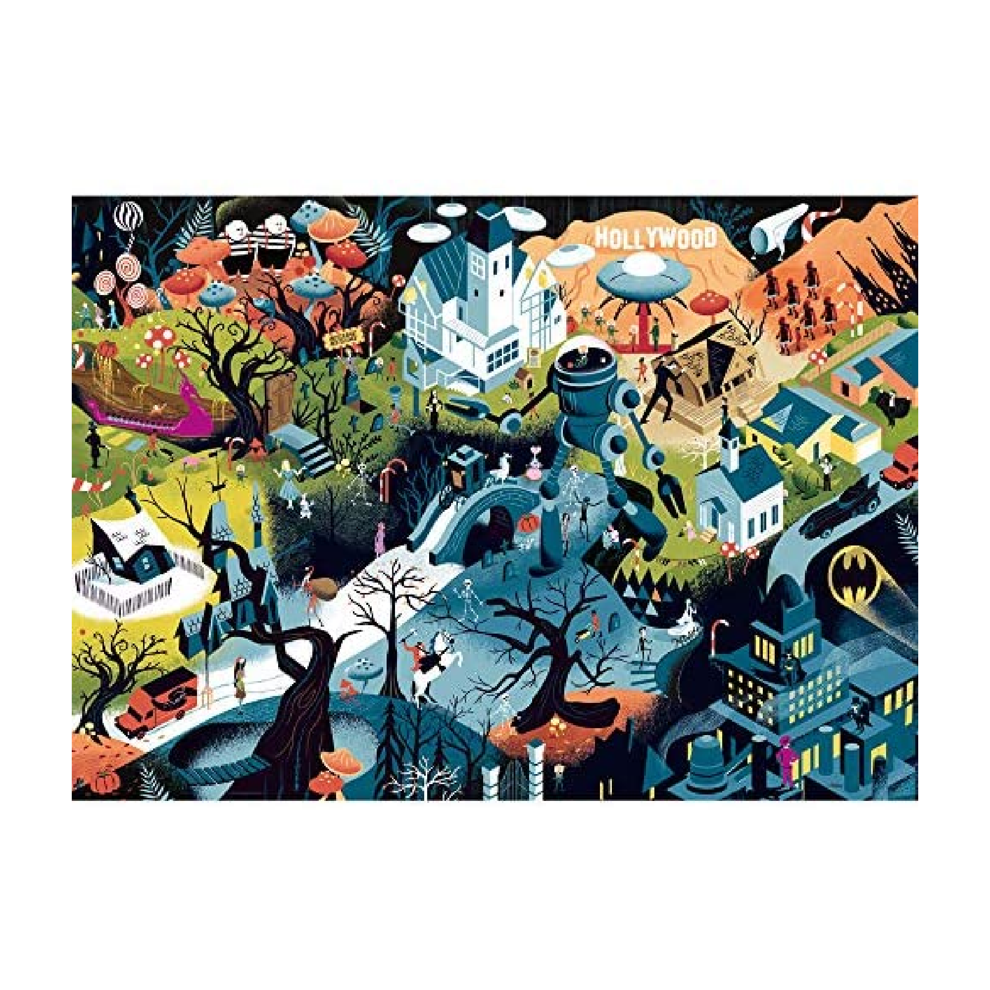 Heye Puzzle 1000: Tim Burton Films