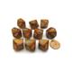 Chessex Dés Glitter: 10D10 Gold/Silver