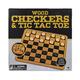 Cardinal Classic - Wood Checkers & Tic Tac Toe