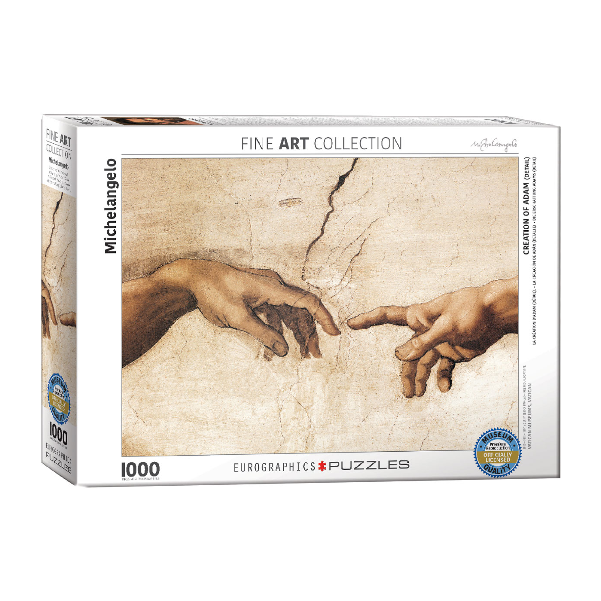 Eurographics Puzzle 1000: Creation of Adam  Detail  by Michelangelo