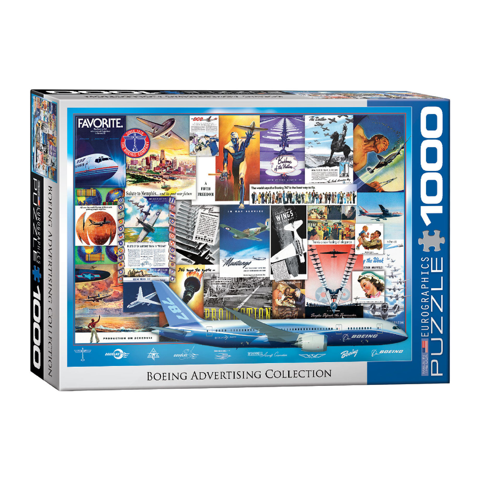 Eurographics Puzzle 1000: Boeing Advertising Collection
