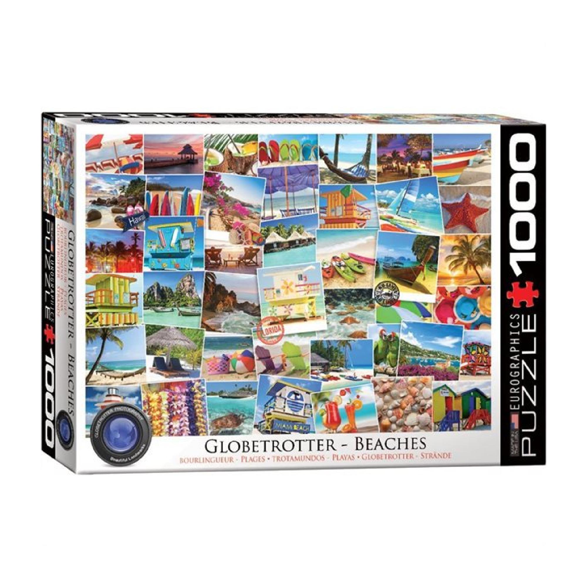 Eurographics Puzzle 1000: Beaches  - Globetrotter