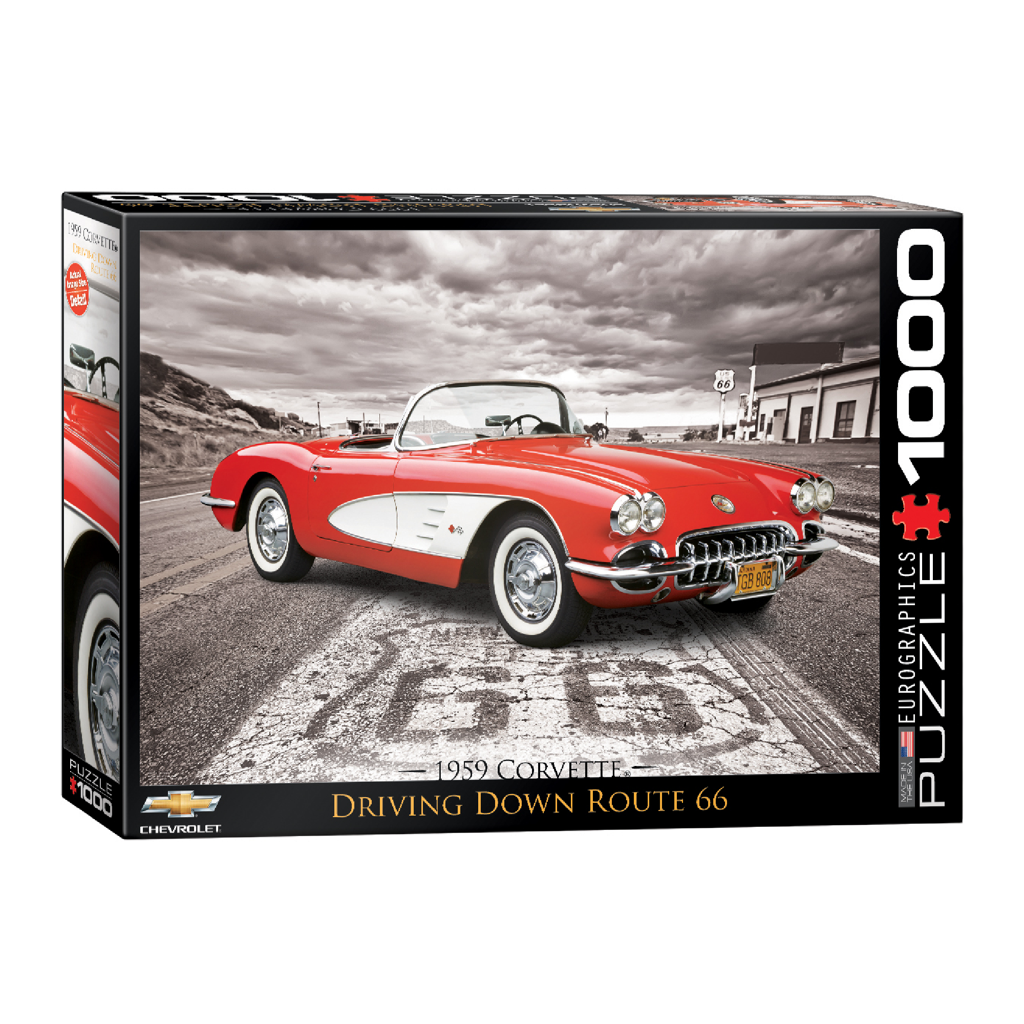 Eurographics Puzzle 1000: Driving Down Route 66 -1959 Corvette