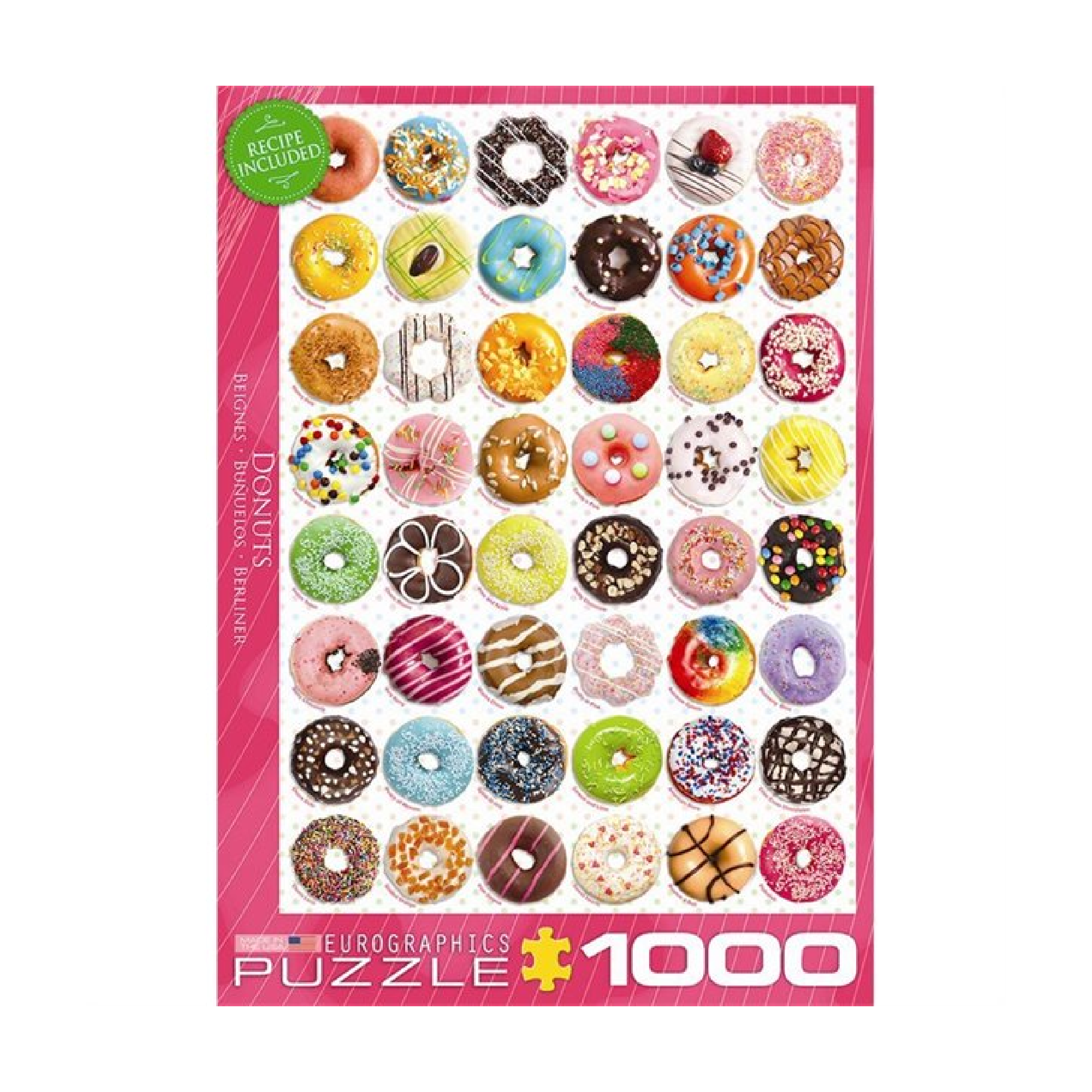 Eurographics Puzzle 1000: Donuts Tops