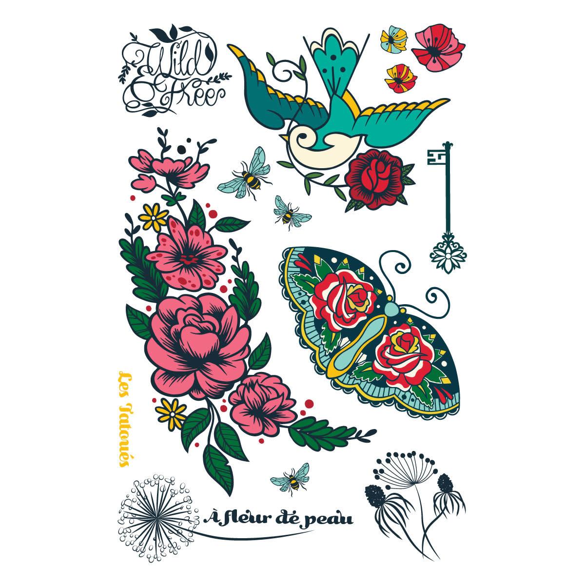 Les Tatoués Tatouage 4X6: À fleur de peau