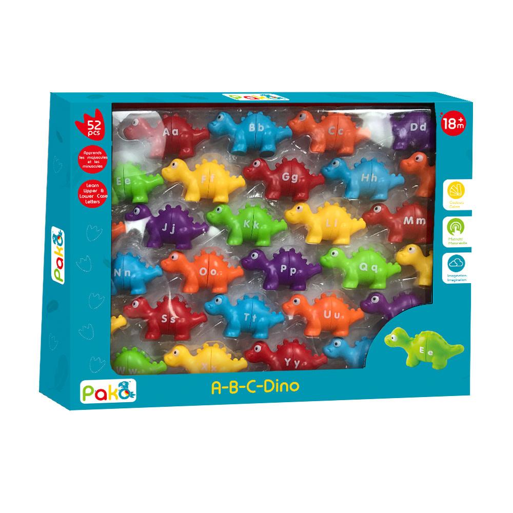 Pakö A-B-C- Dino 52 pièces