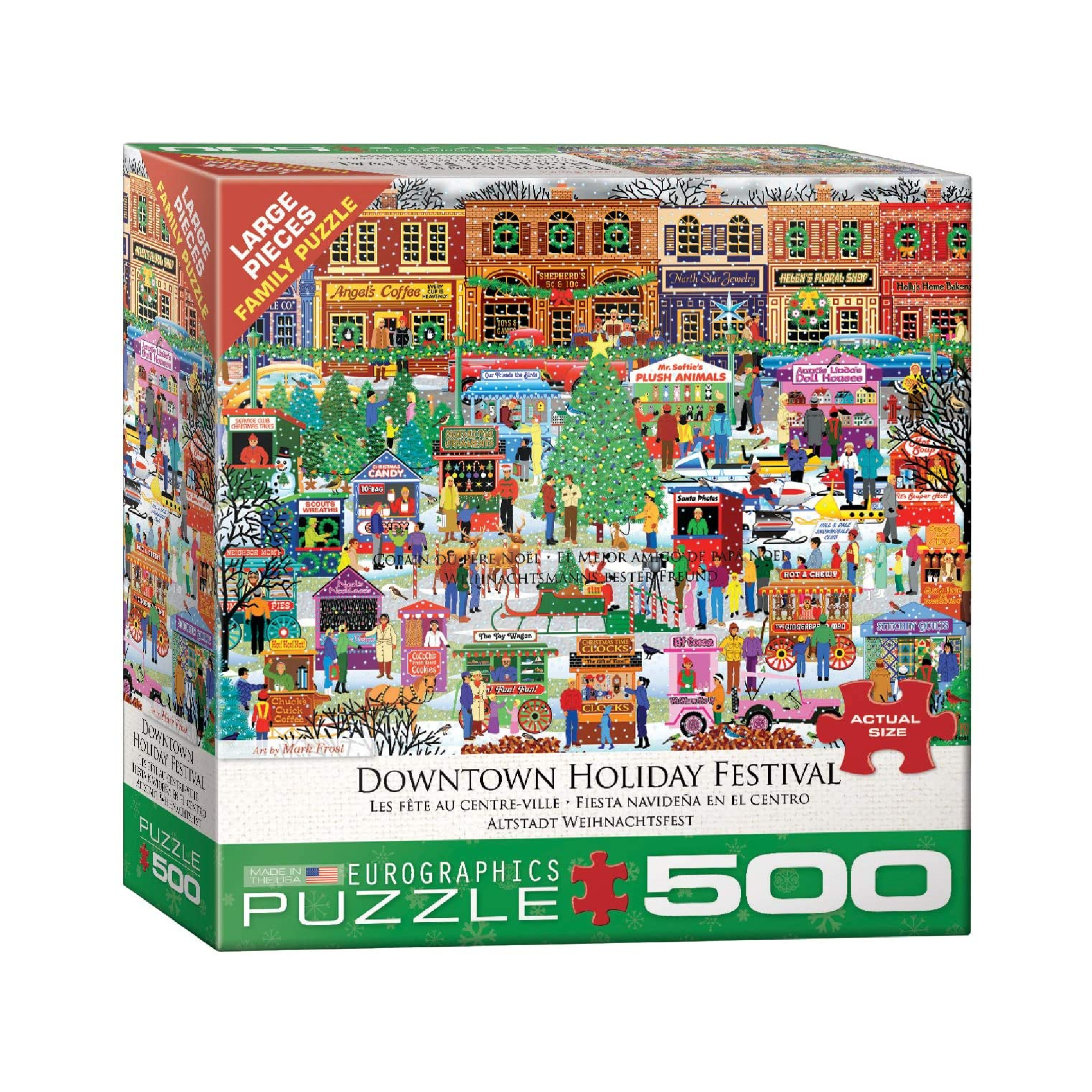 Eurographics Puzzle 500: Downtown Holiday Festival