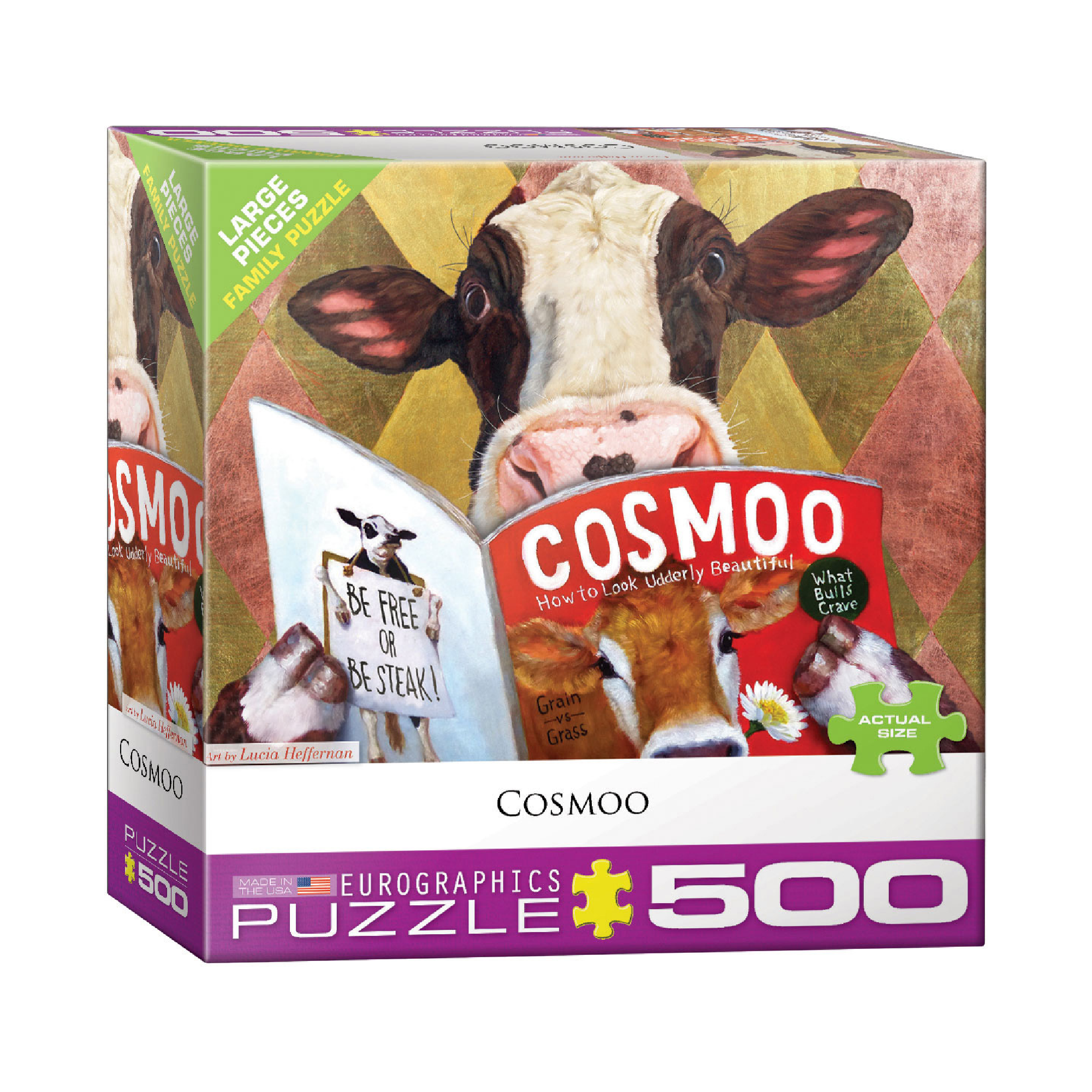 Eurographics Puzzle 500: Cosmoo by Lucia Heffernan