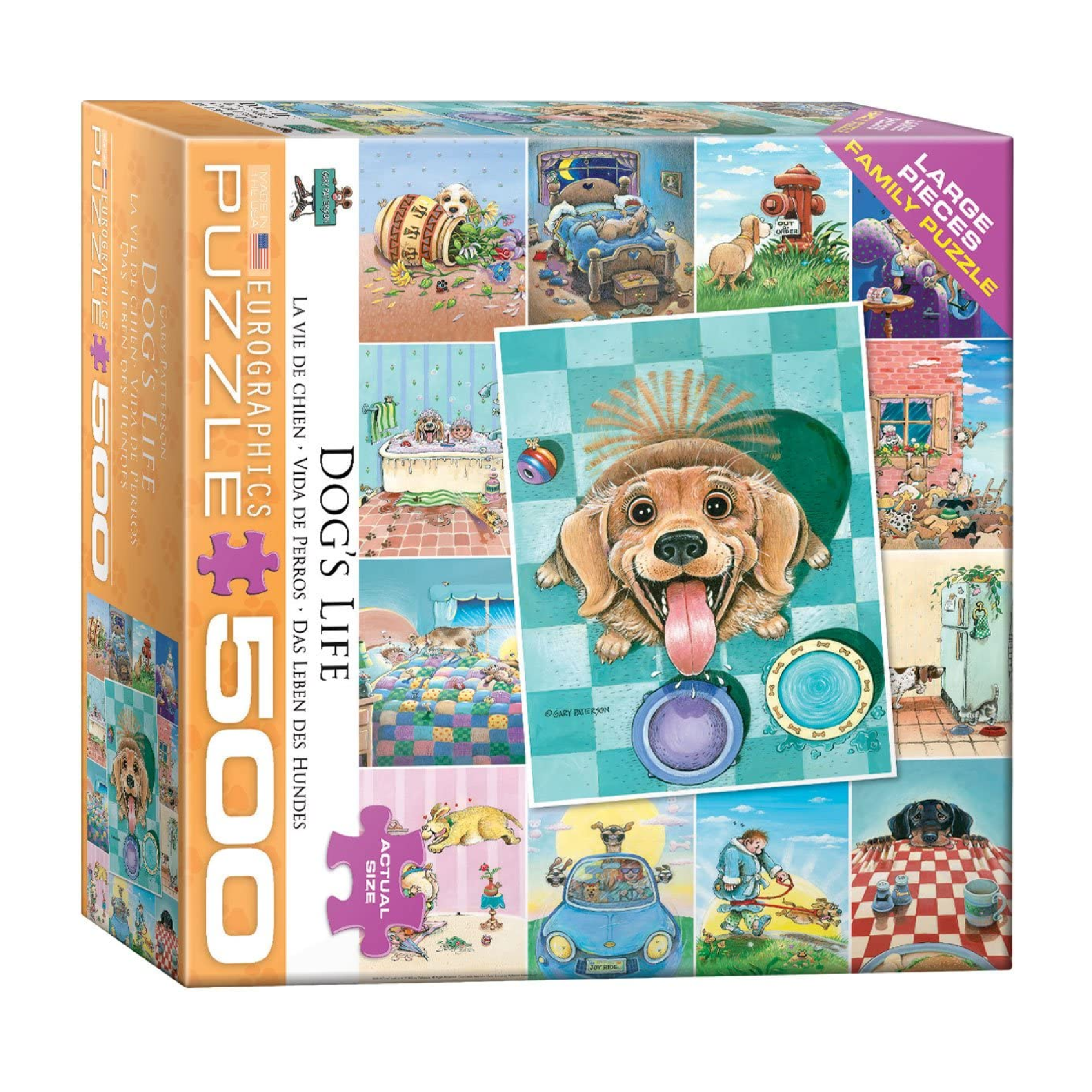 Eurographics Puzzle 500: Dog's Life by Gary Patterson