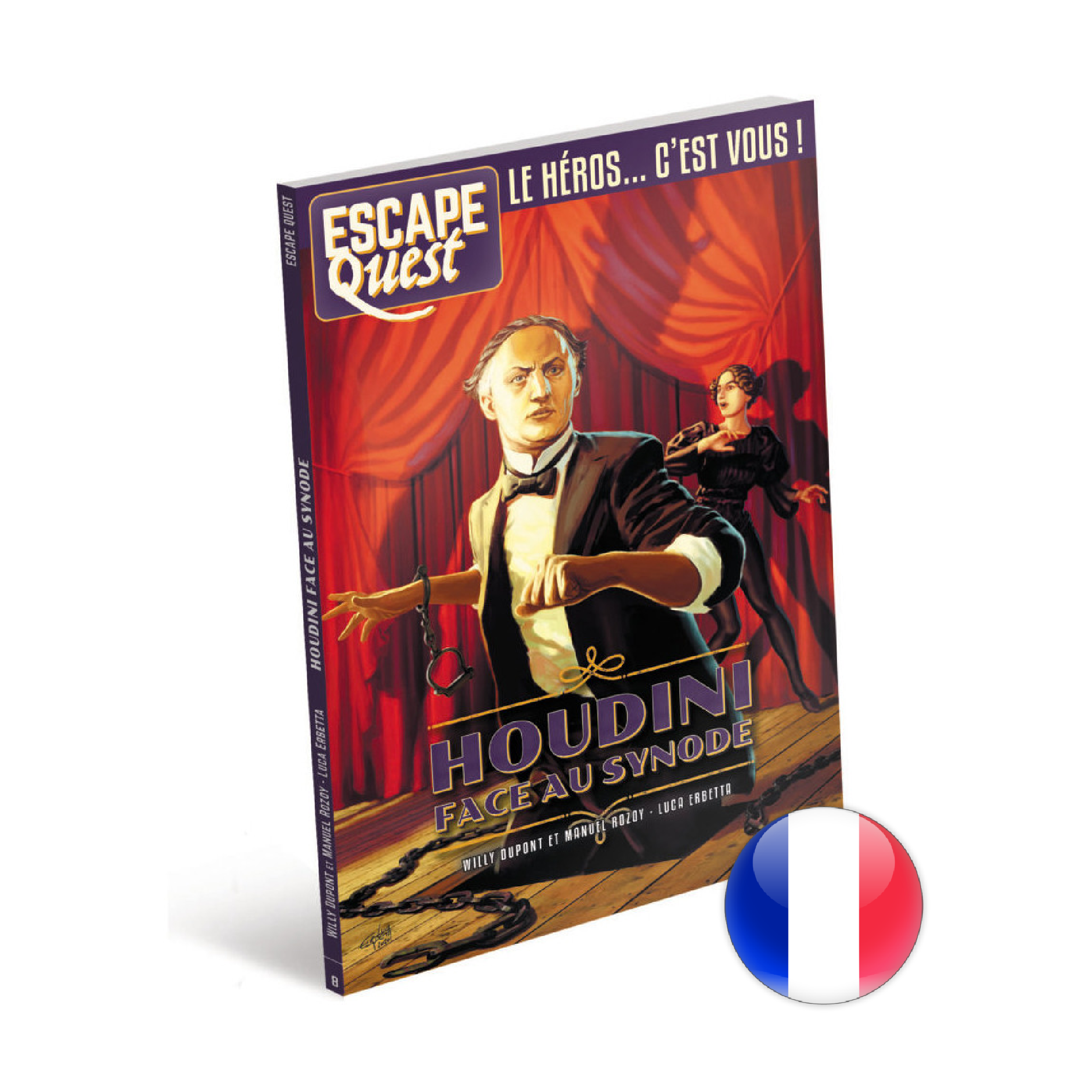 Don't Panic Games Escape Quest 8: Houdini face au Synode (livre)