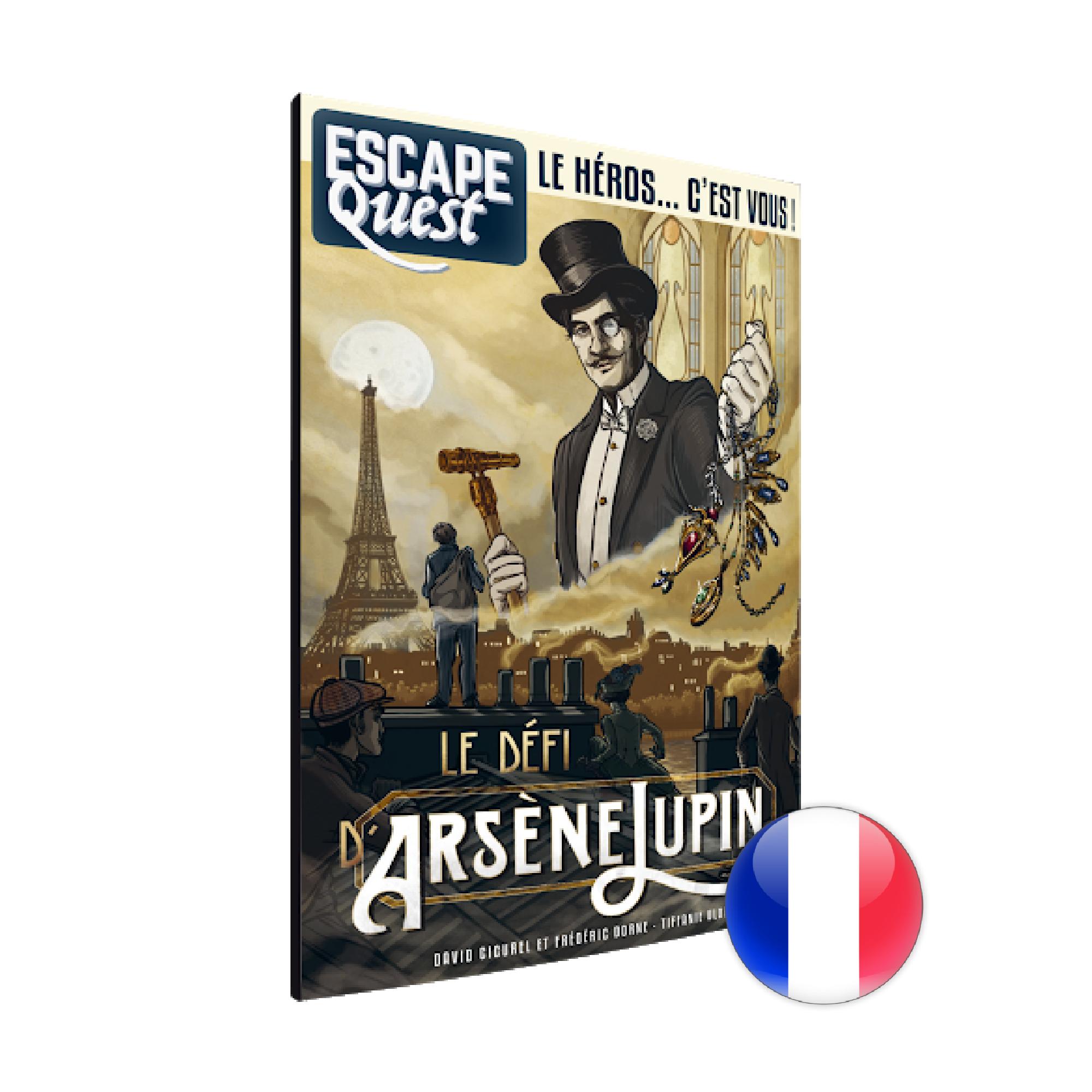 Don't Panic Games Escape Quest 4: Le Défi d'Arsène Lupin (livre)