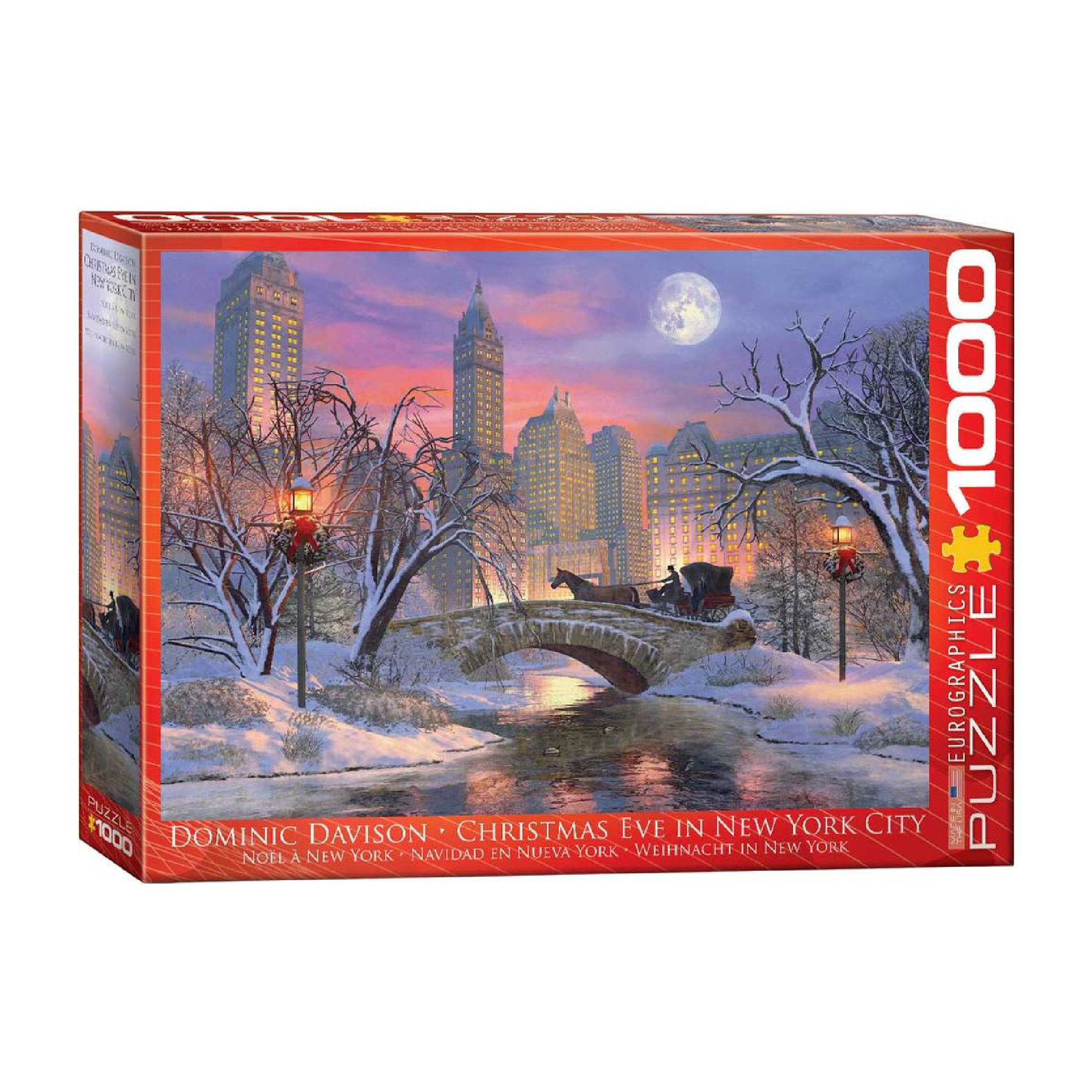 Eurographics Puzzle 1000: Christmas Eve in New York City by Dominic Davison