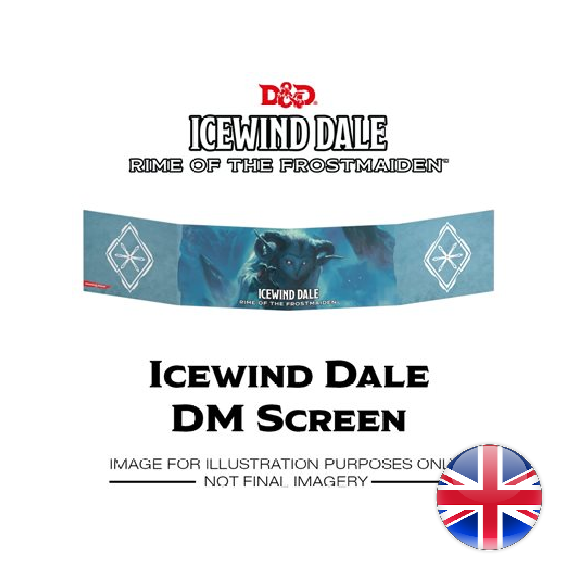 Gale Force Nine D&D Dungeons & Dragons: Icewind Dale - Rime of the Frostmaiden DM Screen