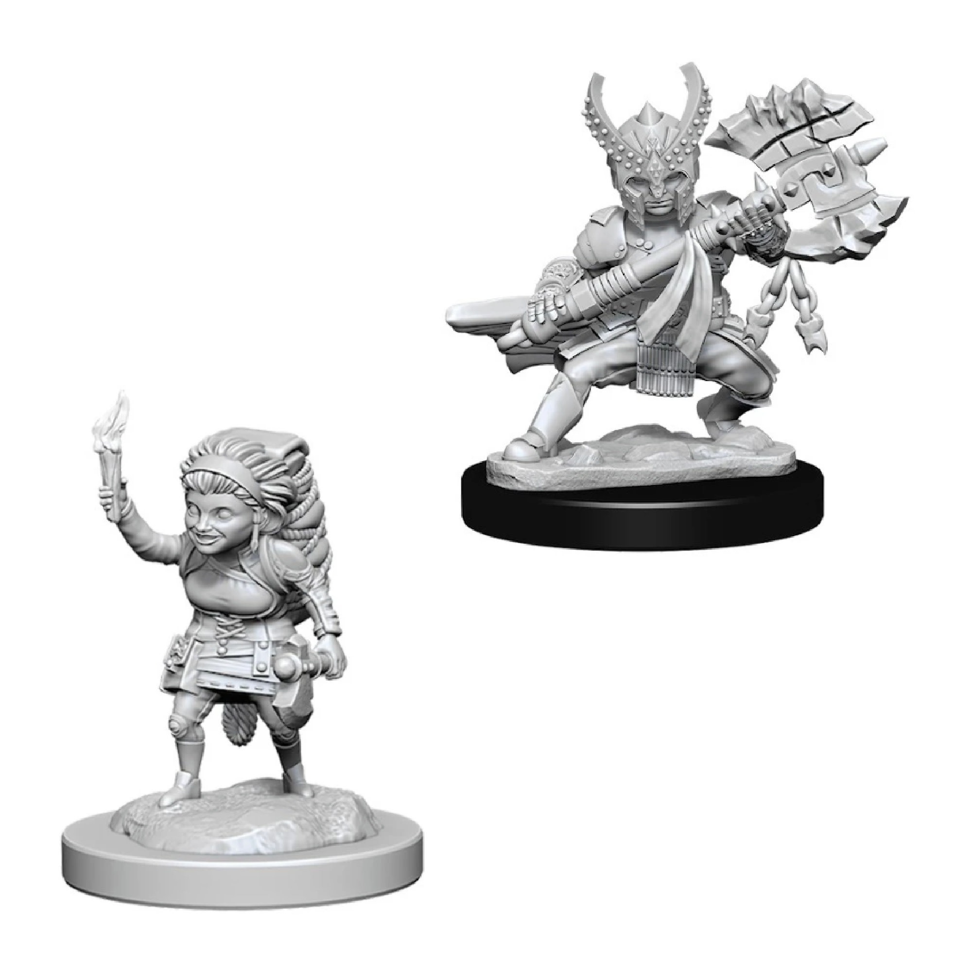 Wizkids Games Unpainted Minis WV6 Female Halfling Fighter