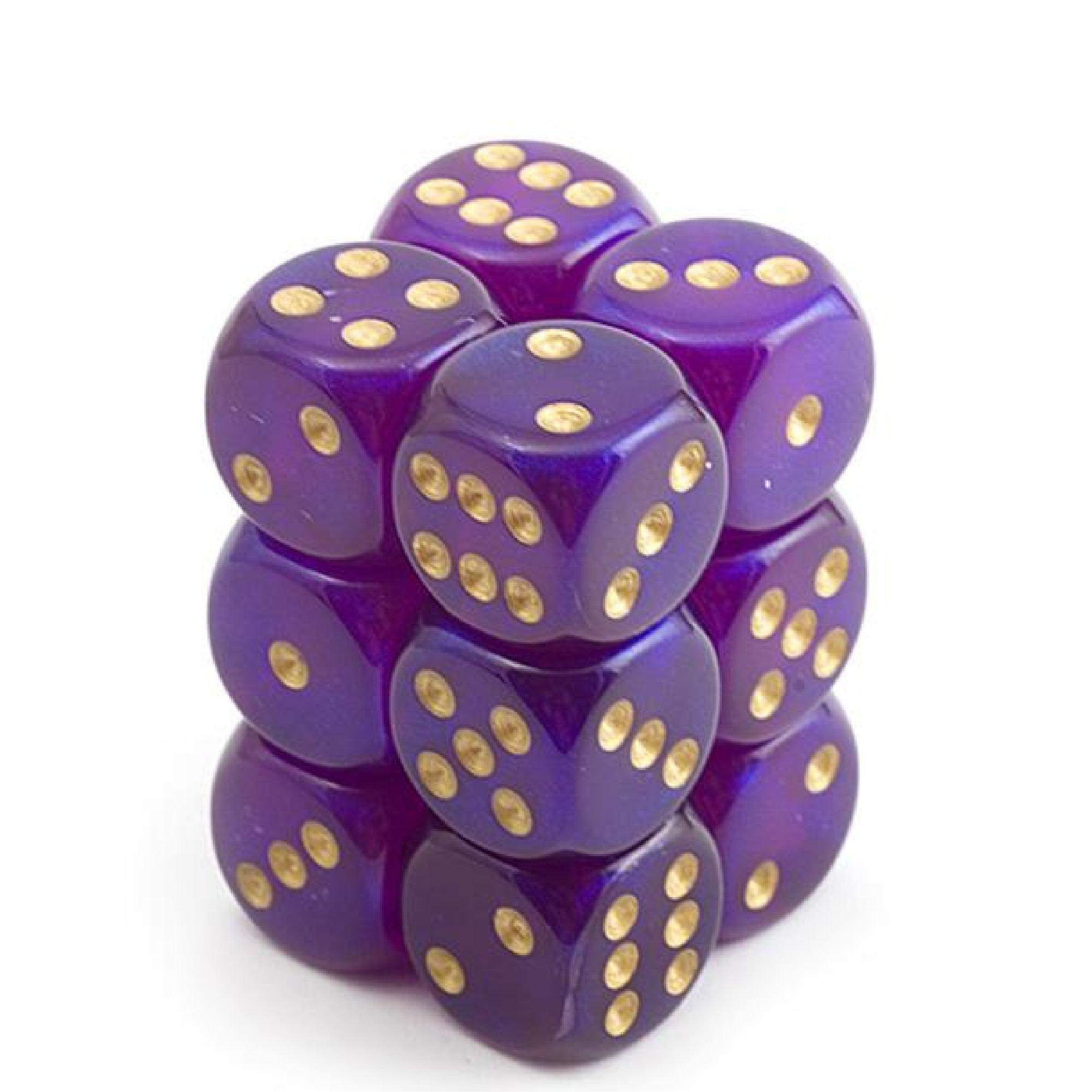 Chessex Borealis: 12D6 Royal Purple/Gold