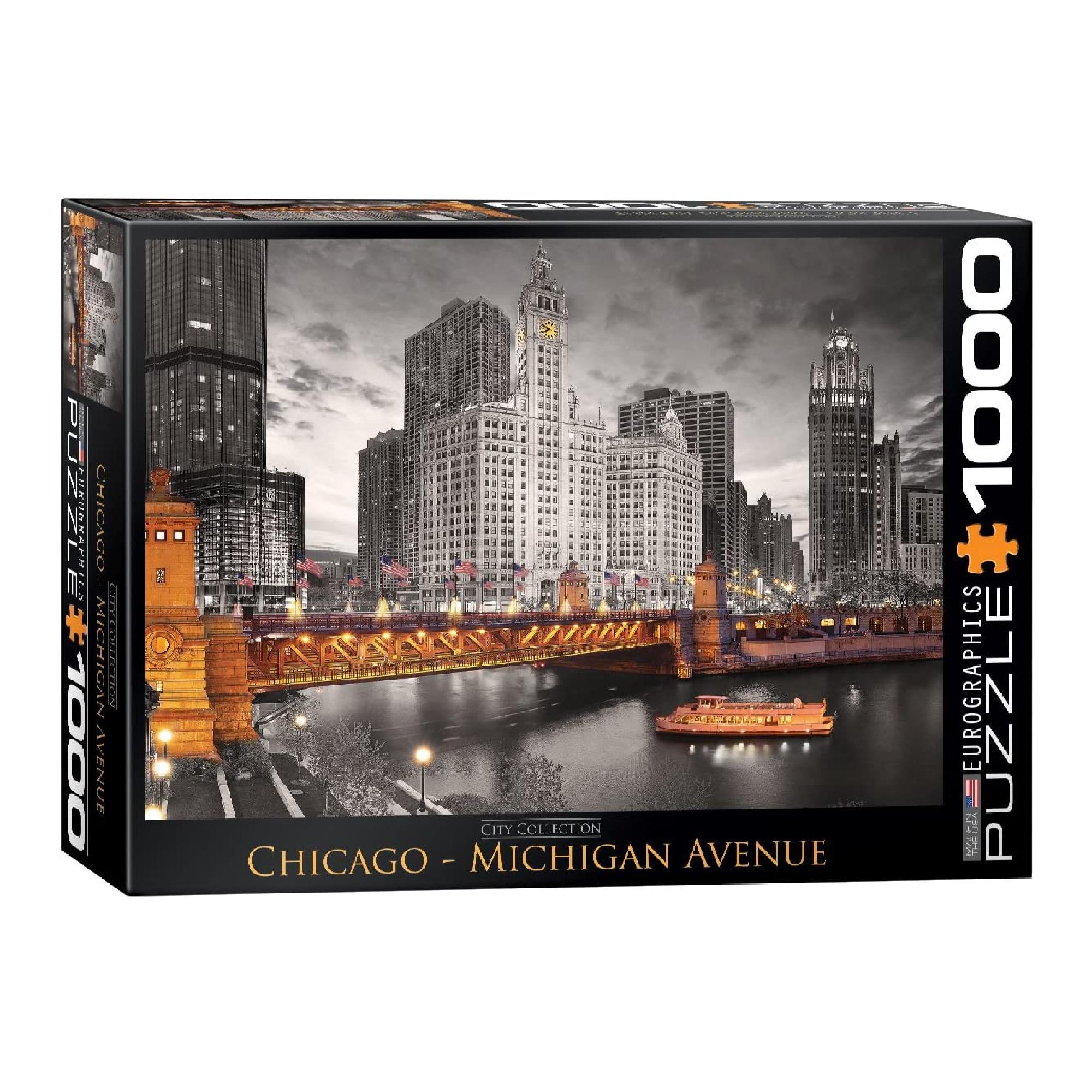 Eurographics Puzzle 1000: Chicago - Michigan Avenue