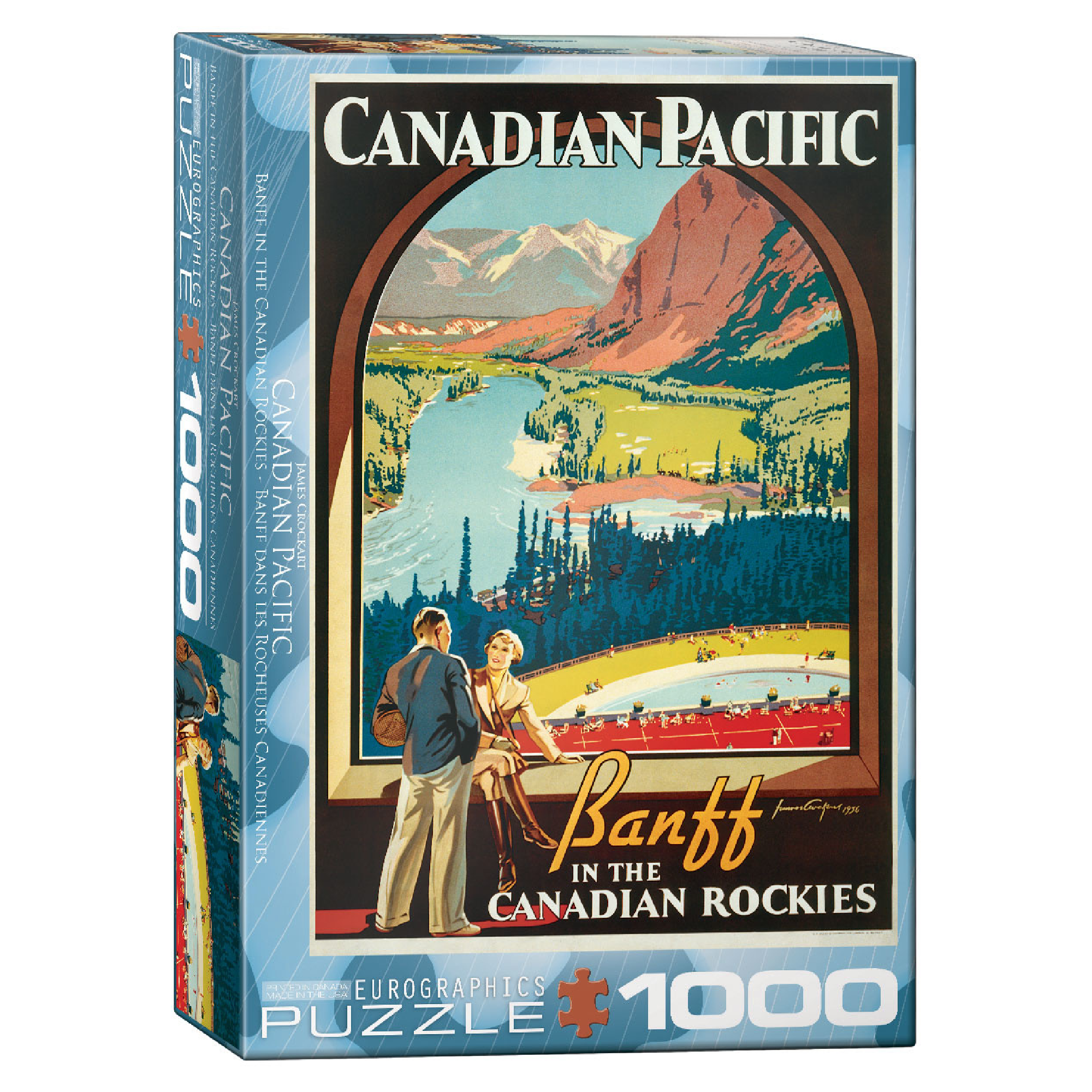 Eurographics Puzzle 1000: Banff in the Canadian Rockies by James Crockart
