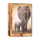 Eurographics Puzzle 1000: Elephant and Baby